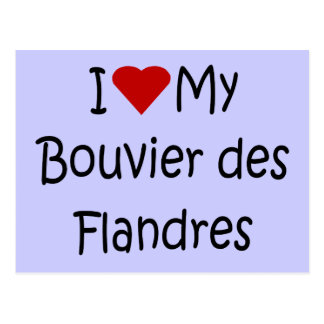 Ik houd van Mijn Bouvier des Flandres Giften van Briefkaart