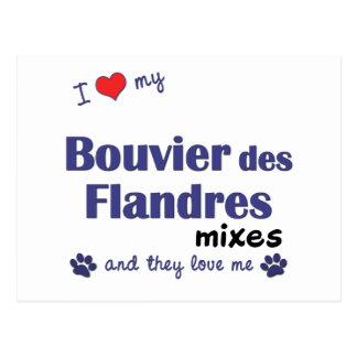 Ik houd van Mijn Bouvier des Flandres Mixes Briefkaart