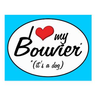 Ik houd van Mijn Bouvier (het is een Hond) Briefkaart