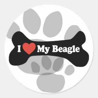 Ik houd van Mijn Brak - het Been van de Hond Ronde Sticker