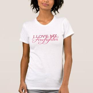 Ik houd van Mijn BRANDBESTRIJDER T Shirt