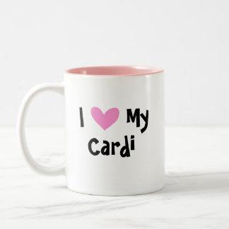 Ik houd van Mijn Cardigan Welse Corgi Tweekleurige Koffiemok