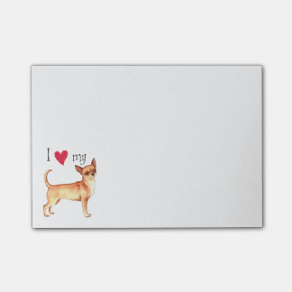 Ik houd van mijn Chihuahua Post-it® Notes
