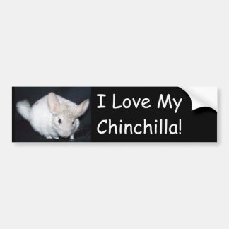 Ik houd van mijn chinchillah bumpersticker