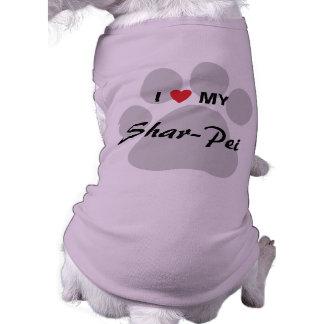 Ik houd van Mijn Chinese shar-Pei Pawprint Shirt