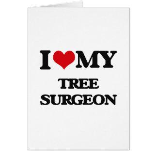 Ik houd van mijn Chirurg van de Boom Briefkaarten 0