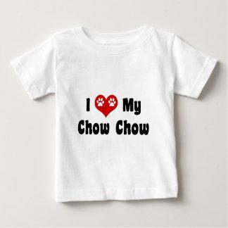 Ik houd van Mijn Chow-chow Baby T Shirts