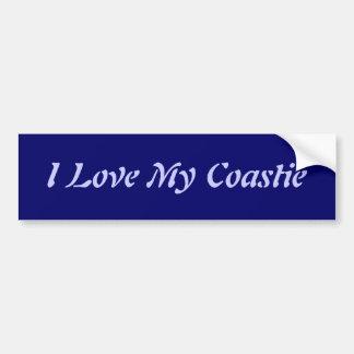 Ik houd van Mijn Coastie Bumpersticker