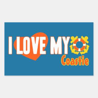 Ik houd van Mijn Coastie! Rechthoekige Sticker