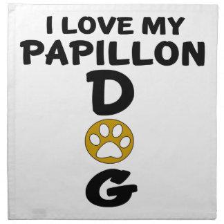 Ik houd van Mijn Design van de Hond Papillon Servet