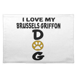 Ik houd van Mijn Design van de Hond van Brussel Placemat