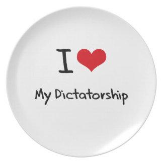Ik houd van Mijn Dictatuur Melamine+bord