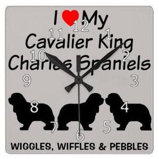 Ik houd van Mijn Drie Arrogante Koning Charles Vierkante Klok