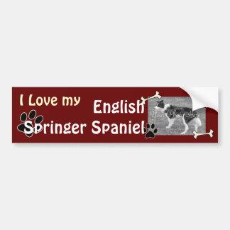 Ik houd van mijn Engelse Sticker van de Bumper van