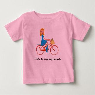 Ik houd van mijn fiets te berijden baby t shirts
