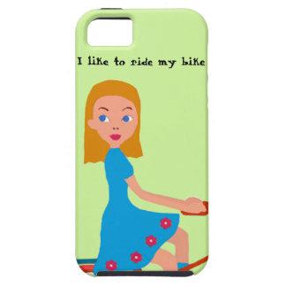 Ik houd van mijn fiets te berijden tough iPhone 5 hoesje