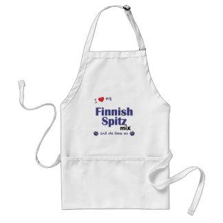 Ik houd van Mijn Finse Spitz Mengeling (Vrouwelijk Schort