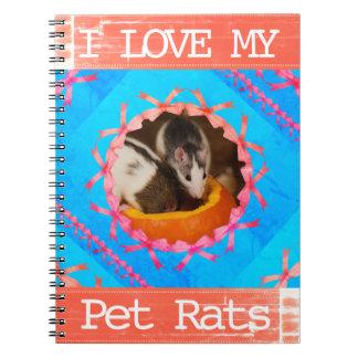 Ik houd van mijn Foto van de Ratten van het Ringband Notitieboek