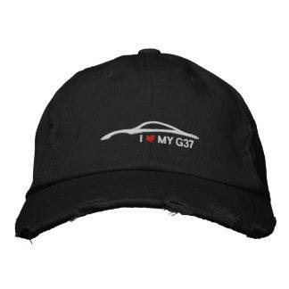 Ik houd van Mijn G37 - zwarte Geborduurde Pet