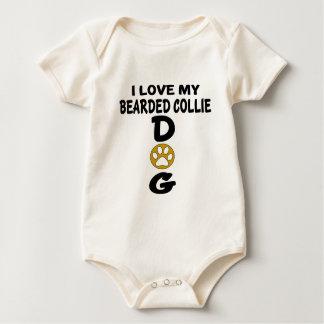 Ik houd van Mijn Gebaard Design van de Hond van de Baby Shirt