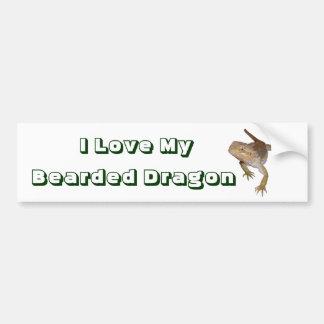 Ik houd van Mijn Gebaarde Draak Bumpersticker