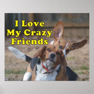 Ik houd van Mijn Gekke Hond van de Brak van Poster