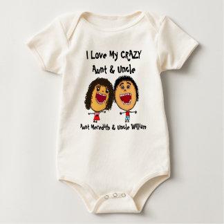 Ik houd van Mijn Gekke Tante en Oom Cartoon Baby Shirt