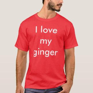 Ik houd van mijn gember t shirt