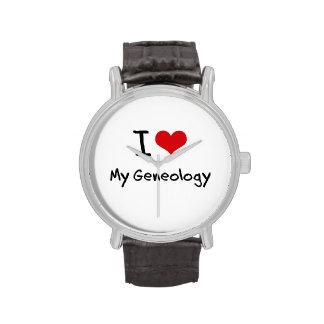 Ik houd van Mijn Genealogie Horloge