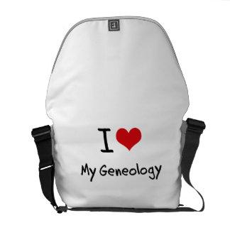 Ik houd van Mijn Genealogie Courier Bags