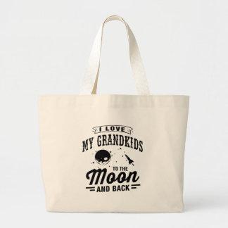Ik houd van Mijn Grandkids aan de Maan en de Rug Grote Draagtas