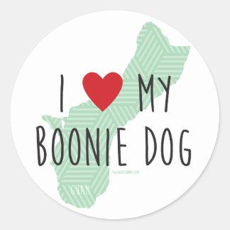 Ik houd van Mijn (Groene) Stickers van de Hond