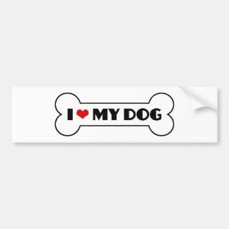 Ik houd van Mijn Hond Bumpersticker