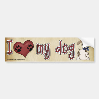 Ik houd van mijn hond! bumpersticker