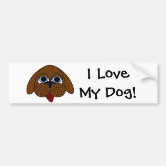 Ik houd van Mijn Hond! De Sticker van de bumper