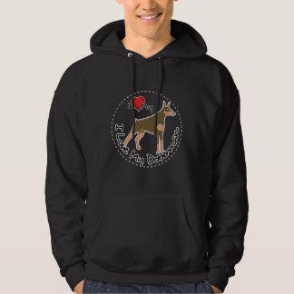 Ik houd van Mijn Hond Doberman Hoodie