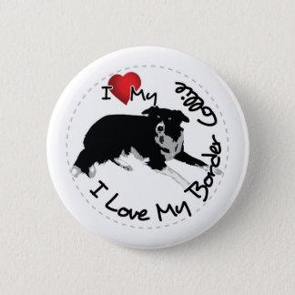 Ik houd van Mijn Hond van Border collie Ronde Button 5,7 Cm