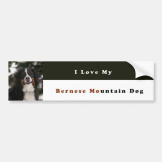 Ik houd van Mijn Hond van de Berg Bernese Bumpersticker