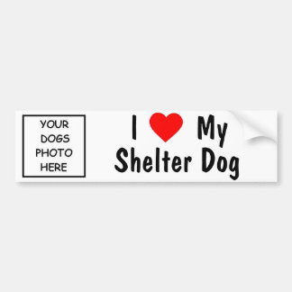 Ik houd van Mijn Hond van de Schuilplaats Bumpersticker