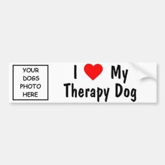 Ik houd van Mijn Hond van de Therapie Bumpersticker
