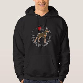 Ik houd van Mijn Hond van Doberman Pinscher Hoodie