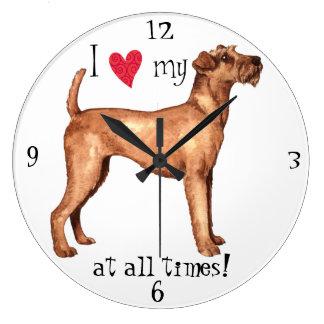Ik houd van mijn Iers Terrier Grote Klok