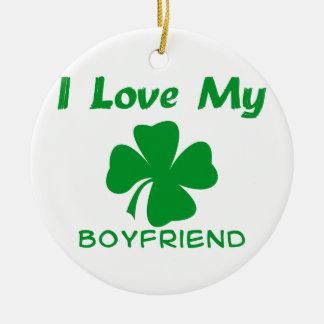 Ik houd van Mijn Ierse Vriend Rond Keramisch Ornament