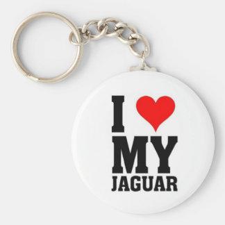 Ik houd van mijn Jaguar Basic Ronde Button Sleutelhanger