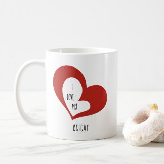 Ik houd van Mijn Kat Ocicat Koffiemok