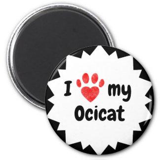Ik houd van Mijn Kat Ocicat Magneet