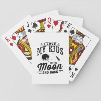 Ik houd van Mijn Kind aan de Maan en de Rug Speelkaarten