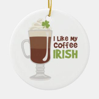 Ik houd van Mijn Koffie het Iers Rond Keramisch Ornament