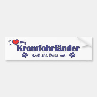 Ik houd van Mijn Kromfohrlander (Vrouwelijke Hond) Bumpersticker