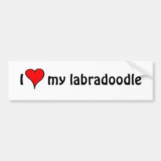 Ik houd van Mijn Labradoodle Bumpersticker